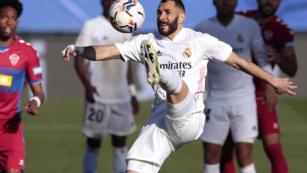 Der Franzose Karim Benzema sorgte gegen Elche für die Wende zugunsten von Real Madrid