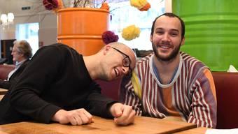Manuel Diener (links) und Valerio Moser sind sogar lustig drauf, wenn sie müde sind.