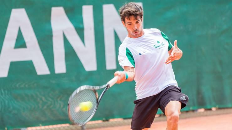 Yann Marti gewann bisher vier der fünf Einzelpartien für den TC Froburg Trimbach.