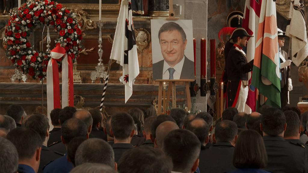 Landesfähnerich Martin Bürki starb überraschend am 9. April. In der Kirche St. Mauritius in Appenzell fand der Trauergottesdienst statt.