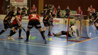 Die Damen von Unihockey Regio BAsel mussten sich am Ende knapp geschlagen geben.