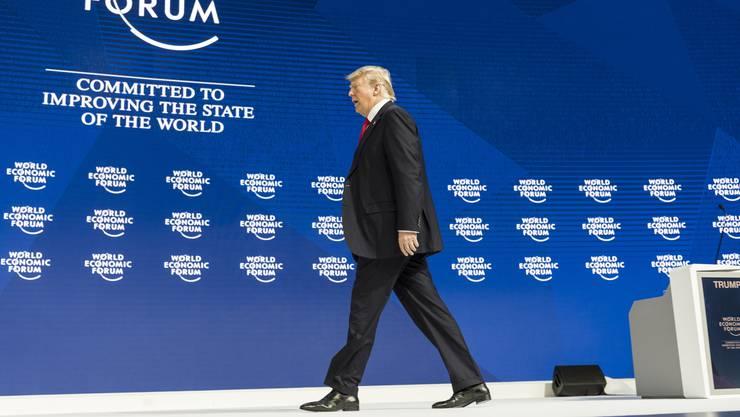 Trump beendet seine Rede in Davos