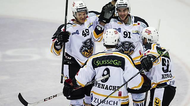 Lugano bejubelt den zweiten Treffer in Kloten