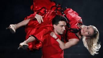 Halmich und ihr Tanzpartner sind beim Publikum durchgefallen