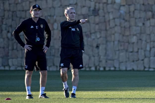 Jetzt gehört dem Staff von Cheftrainer Marcel Koller (rechts) und Assistenztrainer Thomas Janeschitz an.