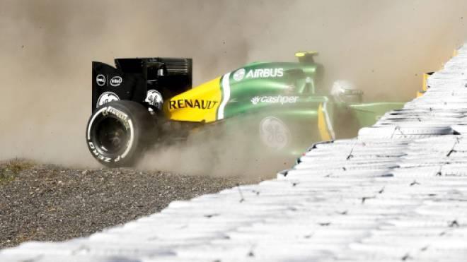 Das Caterham-Team (im Bild Giedo van der Garde) hat in der Formel-1 finanziellen Totalschaden erlitten. Foto: Keystone