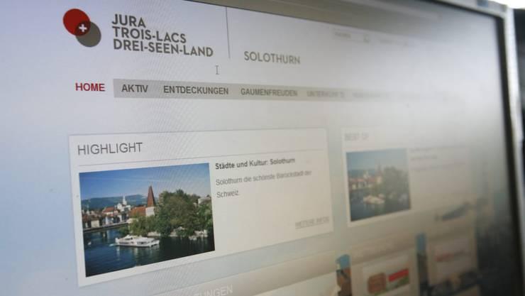 Solothurn-Tourismus-Website unter der Dachmarke «Jura-Trois-Lacs».