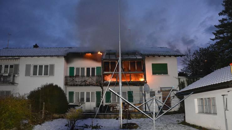 In Trimbach brannte ein Wintergarten.