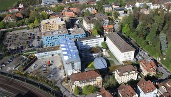 Ausser dem Hauptgebäude an der Parkstrasse (zum Kurpark hin) könnten mit dem neuen Gestaltungsplan alle Axpo-Gebäude ersetzt werden.