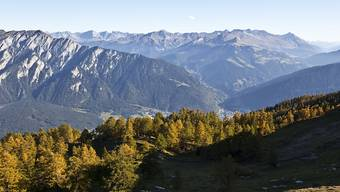 Keine Opfer: Der Felssturz im Tobel beim Montalin (links) in der Nähe von Chur (Bildzentrum) hat nach aktuellem Kenntnisstand keine Personen getroffen. (Archivbild)