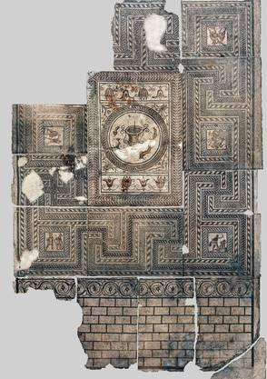 Sensationell: Dieses 64 Quadratmeter grosse Gladiatorenmosaik aus Augusta Raurica wurde noch nie zuvor der Öffentlichkeit gezeigt.