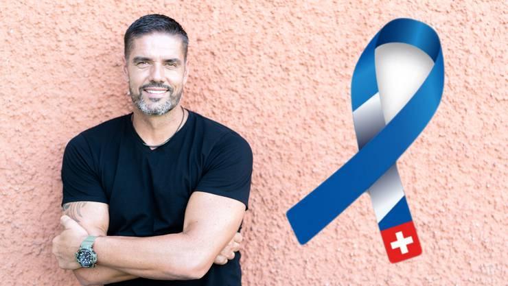 Pascal Zuberbühler macht mit der neuen Gesundheitskampagne «I feel good» auf die Darmkrebsprävention aufmerksam.