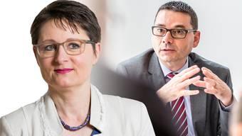 Franziska Roth und ihr Ex-Generalsekretär Stephan Campi.