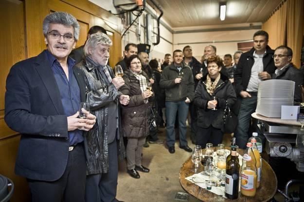 Neujahrsapero im Weinkeller