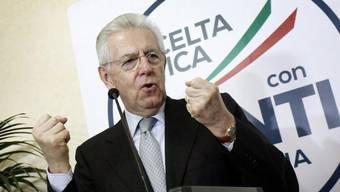 Mario Monti, früherer Kopf der Partei Scelta Civica, in Rom