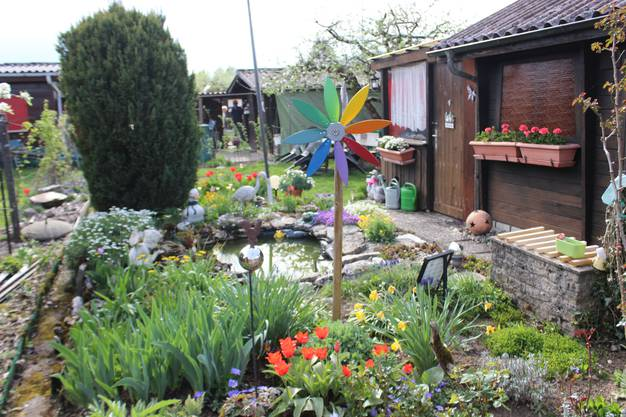 Augenschein im Grenchner Familiengarten an Ostern 2019