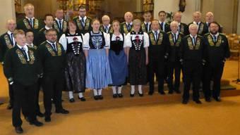 Die Guldenthaler Jodler sorgten bei ihrem Konzert für eine volle Kirche.