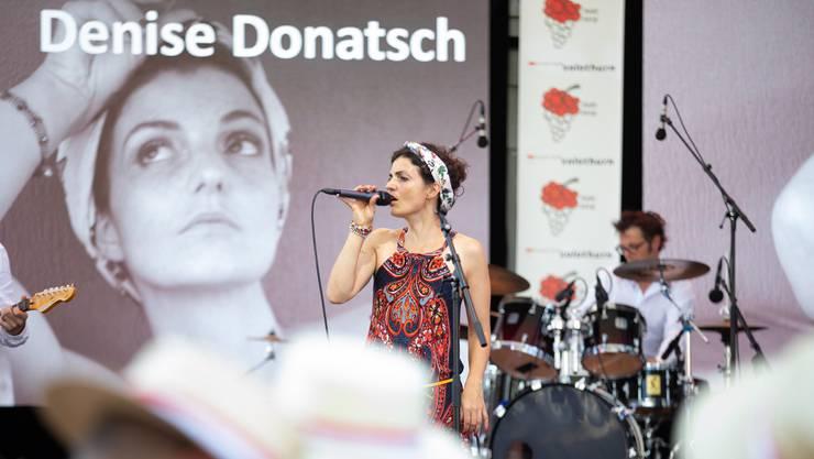 Denise Donatsch am Fête des Vigneron in Vevey letztes Jahr. Am 3. August, dem Solothurner Kantonstag, war sie dabei.