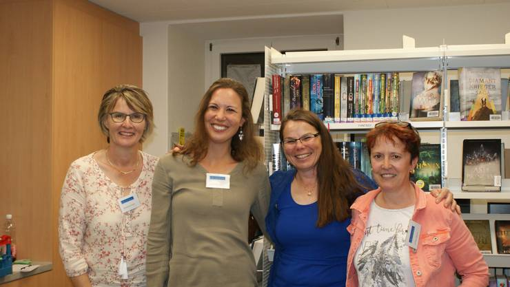 Irene Hunziker (2. von rechts) mit dem Kulmer Bibliteam