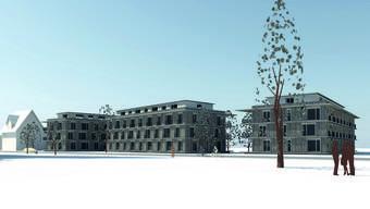 Die Flachdächer der Neubauten für das Alterswohnprojekt «Linde» werden bemängelt.