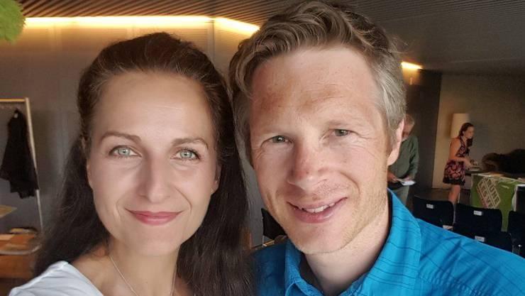 Beide kandidieren nicht: Nancy Holten und Jonas Fricker, hier bei einer Parteiversammlung im Sommer 2017.