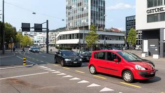 Auf der Badener Gstühl-Kreuzung soll keine Radaranlage hin. Archiv/Spichale