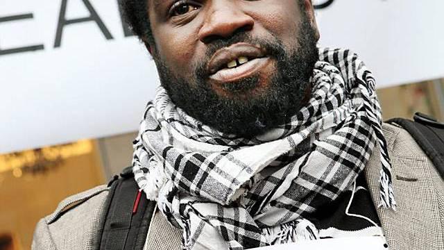Ein Demonstrant in Genf