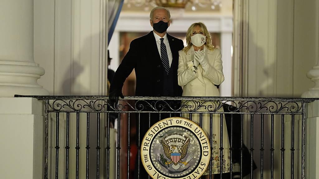 US-Präsident Joe Biden und First Lady Jill Biden am Tag der Amtseinführung. Foto: Evan Vucci/AP/dpa