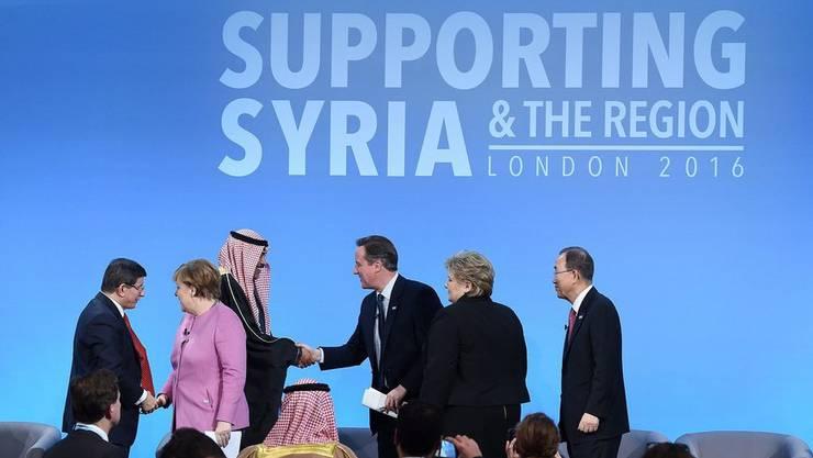 Staatschefs an der internationalen Geberkonferenz für Syrien am 4. Februar 2016.