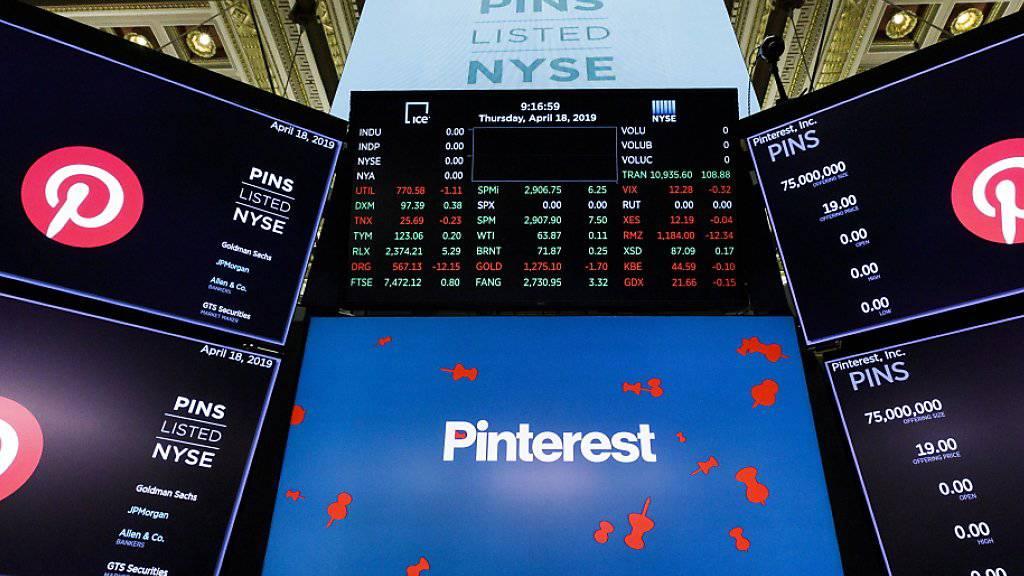 An der Börse sind die Titel von Pinterest nach durchmischten Quartalszahlen deutlich gefallen. (Archivbild)
