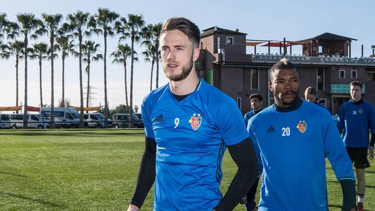 Stürmer Ricky van Wolfswinkel beim Trainingslager des FC Basel im spanischen Marbella.
