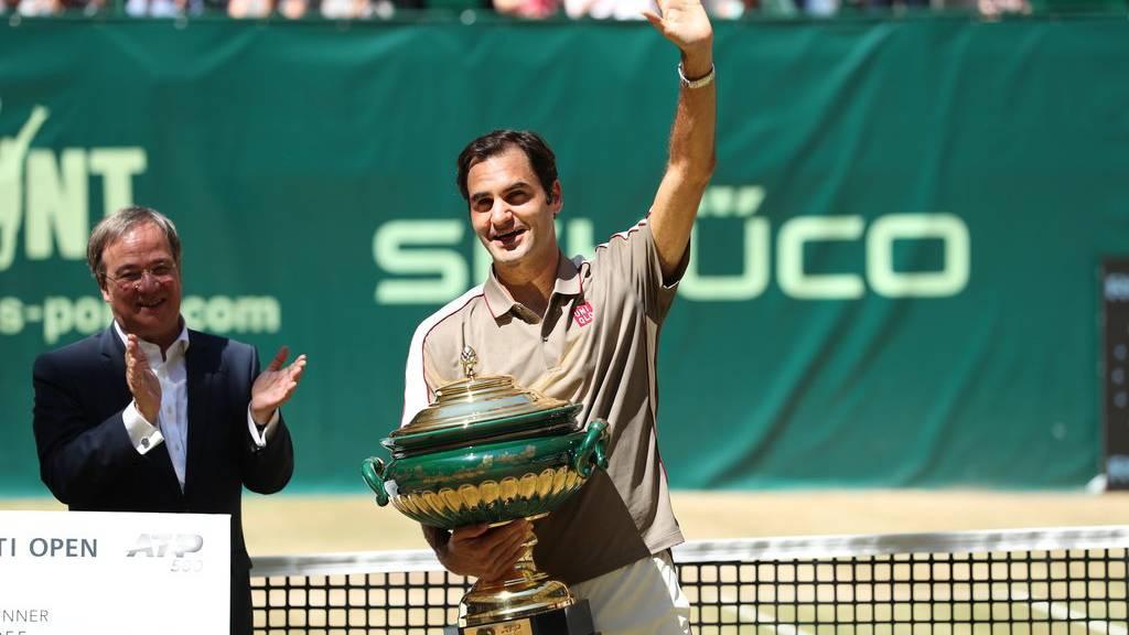 Federer gewinnt in Halle zum zehnten Mal