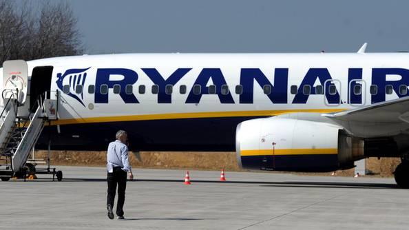 Ryanair - Billigfluggesellschaft aus Irland (Archiv)