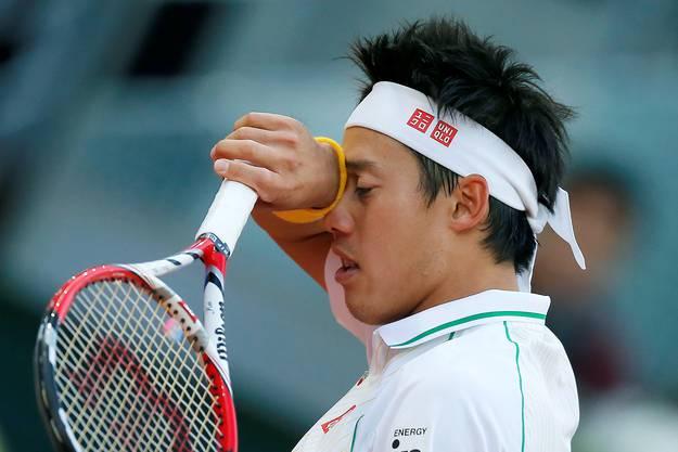 Nishikori verbrauchte im Halbfinal gegen Ferrer viel Energie. Am Sonntag fehlte dem Japaner für den nächsten Marathon die Kraft.