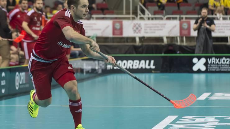Tim Braillard lanciert einen Angriff gegen Schweden