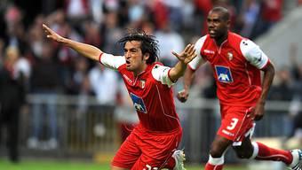 Custodio (links) schiesst Braga in den Europa-League-Final.