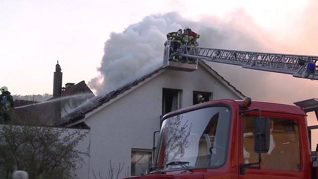 Feuer in Einfamilienhaus in Gränichen