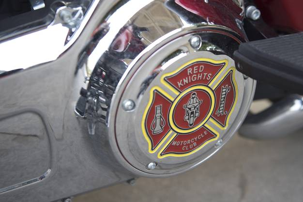 Harley Davidson, kurz vor der Zeremonie 9-11, der Red Knights, am Freitag 11. September 2015 in Sumiswald..jpg