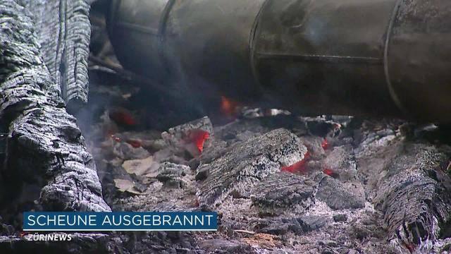 Unterstammheim: Scheune brennt komplett aus