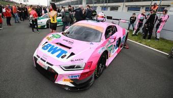 Konnte in der zweiten Runde der ADAC GT Masters-Saison nicht wie erhofft triumphieren: Jeffrey Schmidt in seinem pinken Audi.