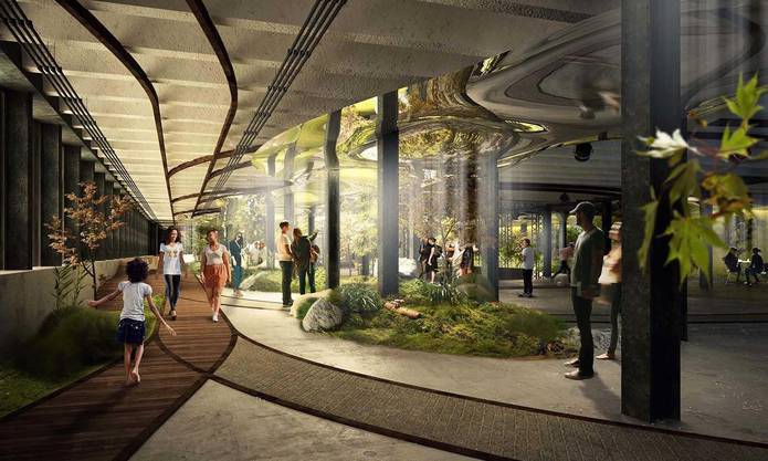 So soll das New Yorker Lowline-Projekt in ein paar Jahren aussehen.