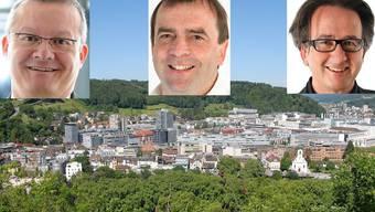 Mario Delvecchio, nominiert von der FDP – Jürg Caflisch, nominiert von der SP – Erich Obrist (Parteilos)