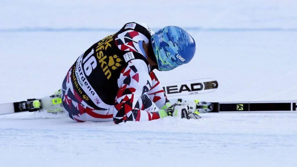 Saisonende: Abfahrts-Olympiasieger Matthias Mayer nach seinem Sturz in Val Gardena