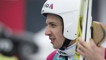 Nicht zufrieden: Simon Ammann liegt nach dem ersten Sprung nur auf dem 18. Platz