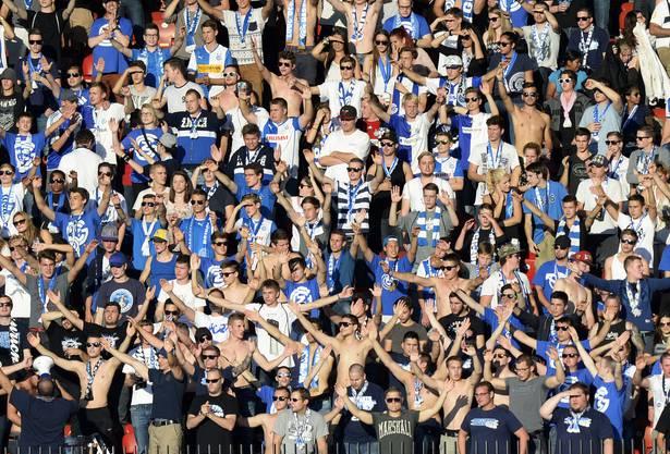 Wie viele GC Fans kommen heute ins Brügglifeld. Dieses Foto stammt von 2014.