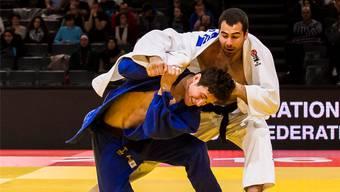 Voller Einsatz: Ciril Grossklaus (blau) scheute für die Verwirklichung seines Olympia-Traums keinen Aufwand.SJV/Paco Lozano