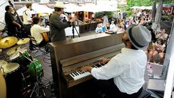 Musik allüberall in der Basler Innenstadt.