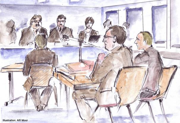 Die Situation im Gerichtssaal