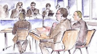 So sehen Gerichtszeichner den Lucie-Prozess