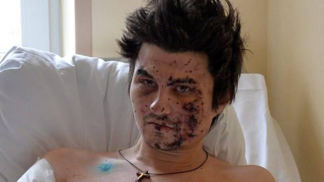 Ein Opfer der Gewalt auf dem Kiewer Maidan vor einem Jahr